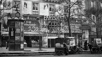 Storefront Photograph - 1900s 1910 Street Scene Showing A Kiosk by Vintage Images