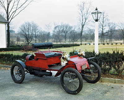 1910s Photograph - 1900s 1910s Antique Horseless Carriage by Vintage Images