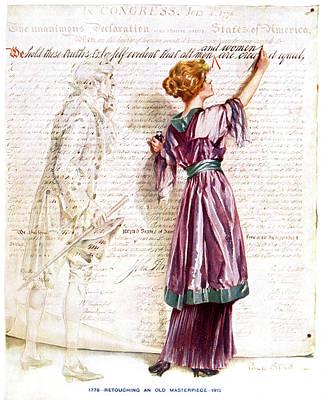 1900s 1915 Woman Suffragette Writing Art Print