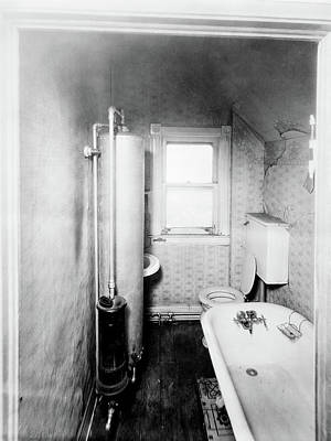 1900s Gas Water Heater In Narrow Art Print