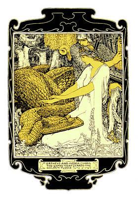 Orpheus Painting - 1900s Illustration Art Nouveau Orpheus by Vintage Images
