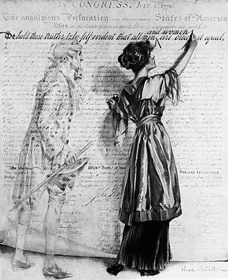 Suffrage Painting - 1900s Illustration Of Turn Of The 20th by Vintage Images