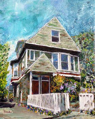 Property Mixed Media - Alameda 1901 Duplex by Linda Weinstock