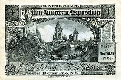Painting - 1901 Pan American Exposition Ticket by Historic Image