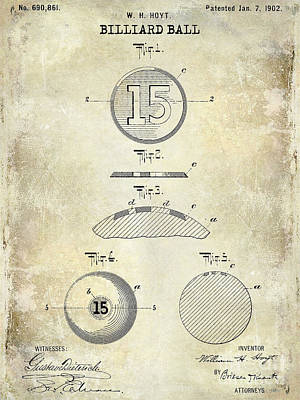 Cue Ball Photograph - 1902 Billiard Ball Patent Drawing by Jon Neidert