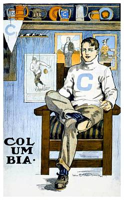 Digital Art - 1902 - Columbia University Sports Poster - Color by John Madison