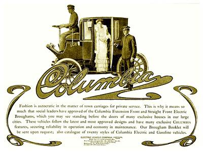 1907 Digital Art - 1903 - Columbia Motor Carriage Advertisement by John Madison