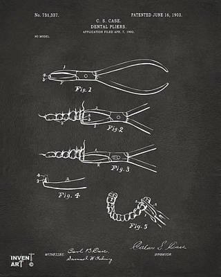 1903 Dental Pliers Patent Gray Art Print by Nikki Marie Smith