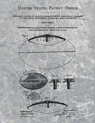 American Football Mixed Media - 1903 Football Patent Illustration by Dan Sproul