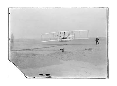 1903 Wright Brothers First Flight Art Print by MMG Archives