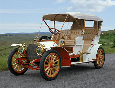 1904 Photograph - 1904 Mercedes 2832 Hp Side Entrance by Panoramic Images