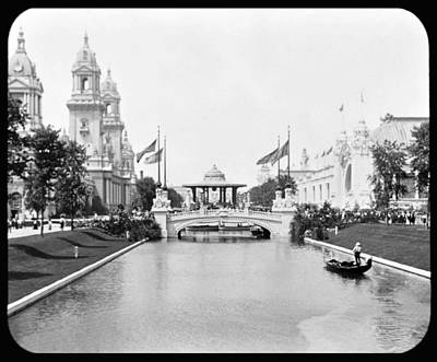 1904 Worlds Fair Lagoon And Electricity Building Art Print