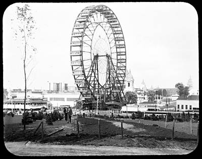1904 Worlds Fair Observations Wheel Ferris Wheel Art Print