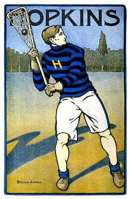 Digital Art - 1905 - Johns Hopkins University Lacrosse Poster - Color by John Madison