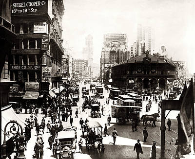 Photograph - 1905 Herald Square New York City by Historic Image