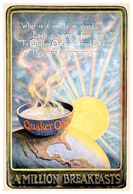 Digital Art - 1906 - Quaker Oats Cereal Advertisement - Color by John Madison