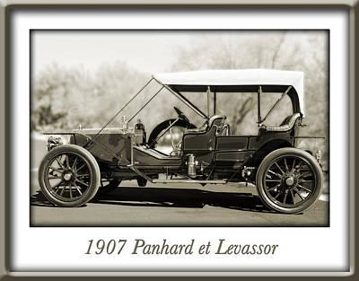 1907 Panhard Et Levassor Art Print by Jill Reger