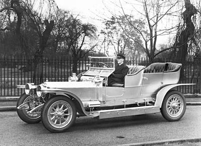 One Young Man Only Photograph - 1907 Rolls-royce Silver Ghost by Underwood Archives