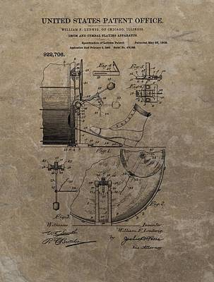 Music Drawings - 1909 Drum Patent by Dan Sproul