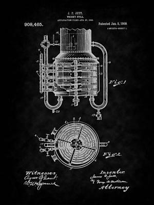 Drawing - 1909 Jett Whiskey Still Patent Art-bk by Barry Jones