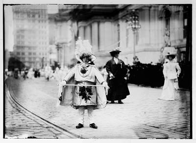 1909 Mummers Parade Art Print by Bill Cannon