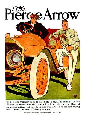 Digital Art - 1910 - Pierce Arrow Automobile Advertisement Poster - Color by John Madison