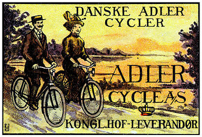Painting - 1910 Adler Bicycles by Historic Image