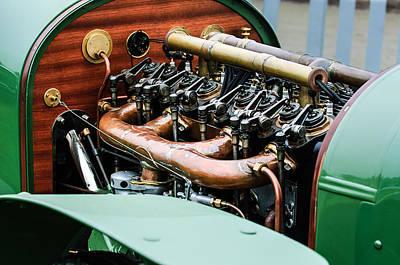 1910 Benz 22-80 Prinz Heinrich Renn Wagen Engine Art Print
