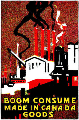 1910 Consume Canadian Goods Art Print