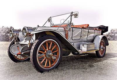 1910 Franklin Model H Touring Art Print by Marcia Colelli