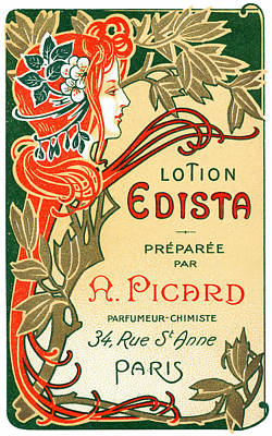Painting - 1910 French Art Nouveau Label  by Historic Image