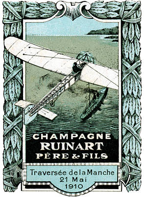 Painting - 1910 French Aviation Poster by Historic Image