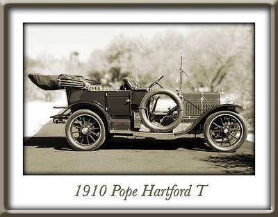 Photograph - 1910 Pope Hartford T by Jill Reger