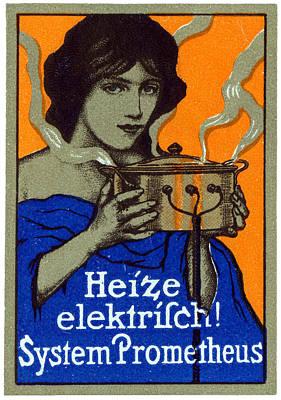 1910 Prometheus Electric Cooker Art Print