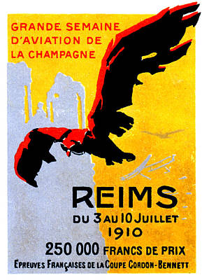 Painting - 1910 Reims Air Show by Historic Image