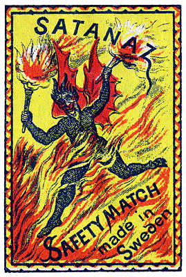 Painting - 1910 Satan's Matches by Historic Image