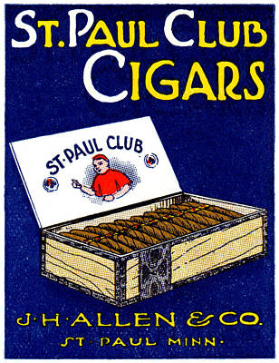Painting - 1910 St. Paul Club Cigars by Historic Image