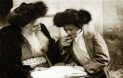 1910 Studying The Torah Print by Historic Image