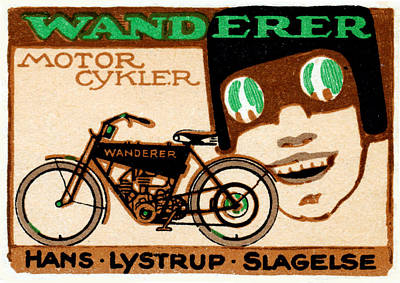 Painting - 1910 Wanderer Motorcycle by Historic Image