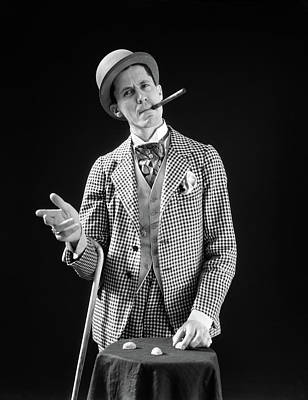 1910s 1920s Character Con Man Barker Art Print