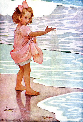 Innocence Painting - 1910s Jessie Willcox Smith Illustration by Vintage Images