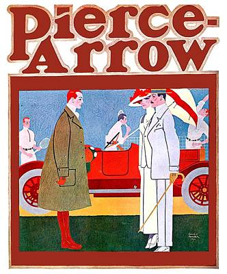 Digital Art - 1911 - Pierce Arrow Automobile Advertisement Poster - Color by John Madison