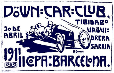 Painting - 1911 Barcelona Car Club by Historic Image