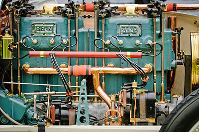 Photograph - 1911 Benz 200 Hp  - Blitzen Benz Engine -2395c by Jill Reger