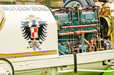 Photograph - 1911 Benz 200 Hp  - Blitzen Benz Engine2 by Jill Reger
