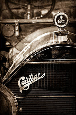 1911 Cadillac Roadster Hood Ornament - Grille Emblem Art Print by Jill Reger