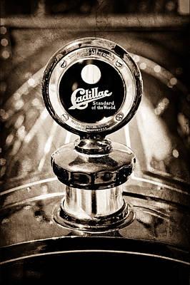1911 Cadillac Roadster Hood Ornament - Moto Meter Art Print by Jill Reger