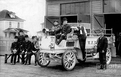 Fire Trucks Photograph - 1911 Fire Wagon by Jon Neidert