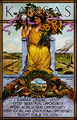Painting - 1911 Kansas Poster by Historic Image