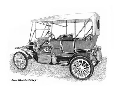 1911 Maxwell A B Art Print by Jack Pumphrey